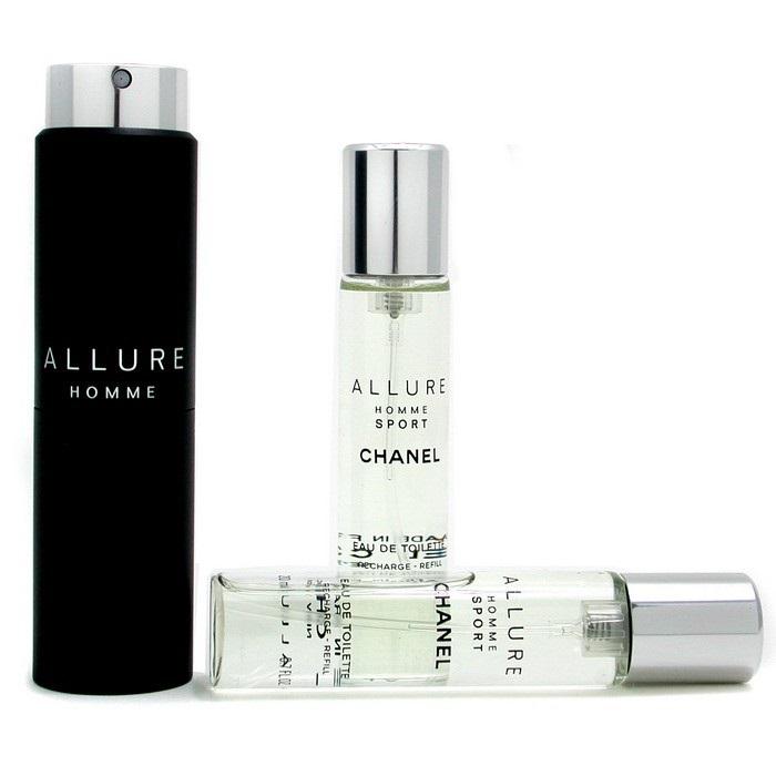 Allure Homme Sport Eau De Toilette Travel Spray (With Two Refills)
