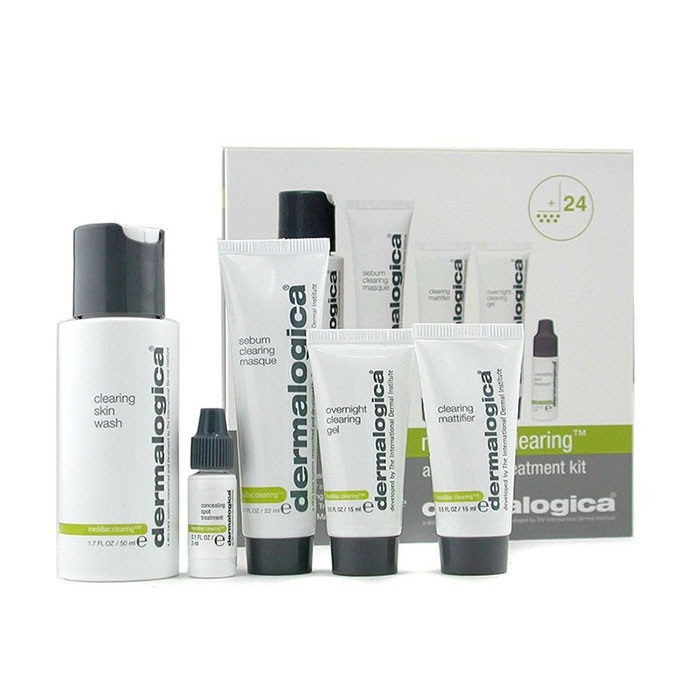 NEW Dermalogica MediBac Clearing Adult Acne Treatment Kit 5pcs Womens Skin Care