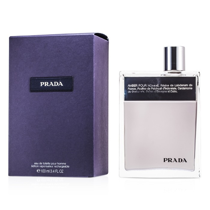 NEW Prada Amber Pour Homme EDT Deluxe Refillable Spray 100ml Perfume