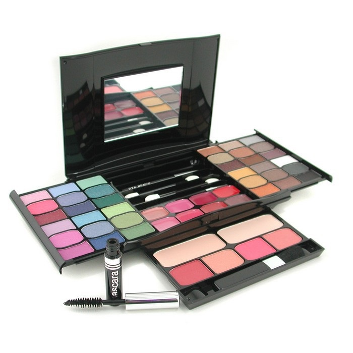 MakeUp Kit G2327 (2x Powder, 36x Eyeshadows, 4x Blusher, 1xMascara, 1xEye Pencil, 8x Lip Gloss, 4x Applicators)
