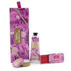 L'Occitane Delice Des Fleurs Coffret: Solid Perfume 9g/0.3oz + Hand Cream 30ml/1oz + Rose Lip Gloss 3.5g/0.1oz