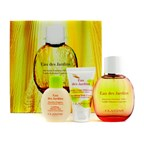 Clarins Eau Des Jardins Coffret: Fragrance Spray 100ml/3.4oz + Body Cream 50ml/1.7oz + Shower Gel 50ml/1.6oz