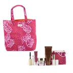Estee Lauder Travel Set: Resilience Lift Firming/Sculpting Cream + Bronze Goddess + Mascara + Lipstick #88 + High Gloss #07 + Pouch + Bag