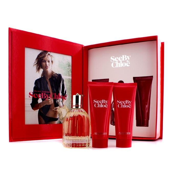 See By Chloe Coffret: Eau De Parfum Spray 75ml/2.5oz + Body Lotion 75ml/2.5oz + Shower Gel 75ml/2.5oz