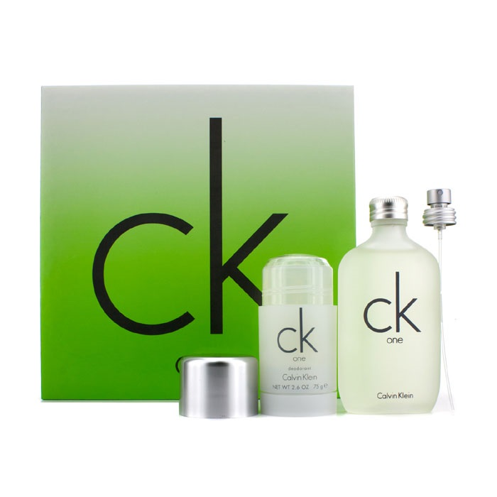 CK One Coffret: Eau De Toilette Spray 100ml/3.4oz + Deodorant Stick 75g/2.6oz