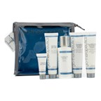 Glotherapeutics Fly With Me Travel Kit (For Normal To Dry Skin): Cleanser + Scrub + Hydration Cream + Oil Free SPF 40+ + Eye Cream