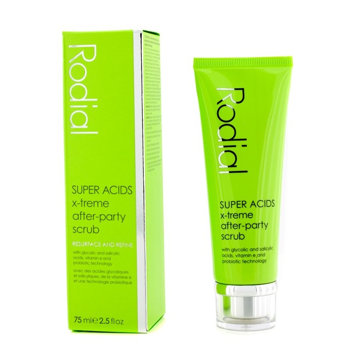 NEW Rodial Super Acids X-Treme After-Party Scrub 75ml Womens Skin Care