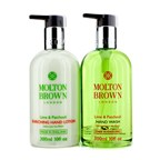 Molton Brown The Lime & Patchouli Hand Care Set: Hand Wash 300ml + Hand Lotion 300ml