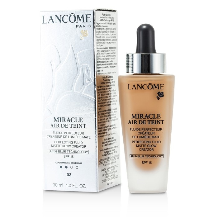 NEW Lancome Miracle Air De Teint Perfecting Fluid SP (# 03 Beige Diaphane)