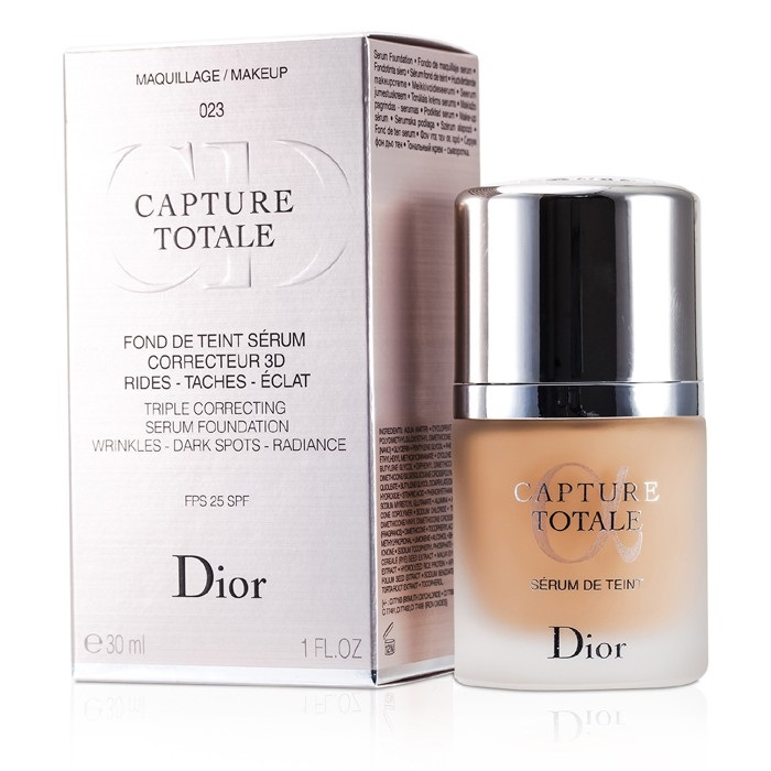 christian dior capture totale triple correcting serum foundation spf25 023 peach the. Black Bedroom Furniture Sets. Home Design Ideas