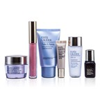 Estee Lauder Travel Set: Makeup Remover 30ml + Micro Essence 30ml + Advanced Time Zone Cream 15ml + ANR II 7ml + Makeup #36 + Lipgloss #09