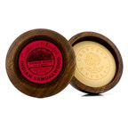 Crabtree & Evelyn Indian Sandalwood Shave Soap In Wooden Bowl