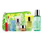 Clinique Travel Set: Foaming Cleanser + Moisture Lotion #2 + DDML + Turnaround Concentrate + All About Eyes + Lip Gloss #14 + Bag