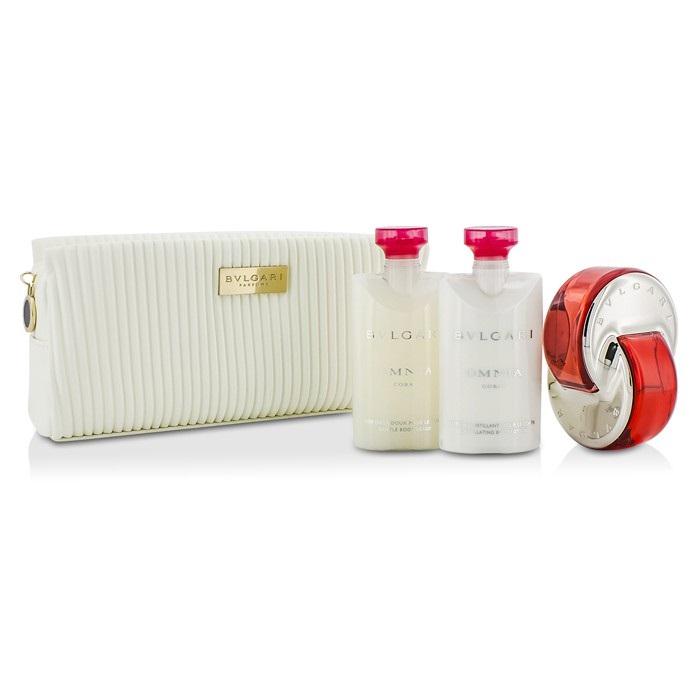 Omnia Coral Coffret: Eau De Toilette Spray 65ml/2.2oz + Body Lotion 75ml/2.5oz + Body Scrub 75ml/2.5oz + Pouch