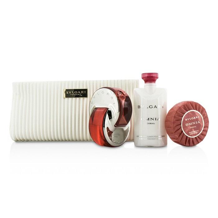 Omnia Coral Coffret: Eau De Toilette Spray 65ml/2.2oz + Soap 75g/2.6oz + Body Lotion 75ml/2.5oz + Pouch