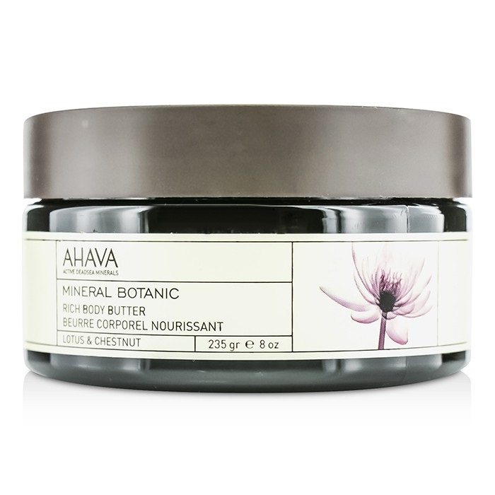 NEW Ahava Mineral Botanic Velvet Body Butter - Lotus & Chestnut 235g Womens Skin
