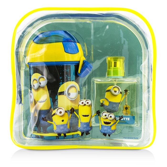 Minions Coffret: Eau De Toilette Spray 50ml/1.7oz + Water Bottle + Backpack