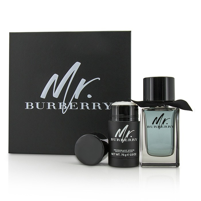 Mr. Burberry Coffret: Eau De Toilette Spray 100ml/3.3oz + Deodorant Stick 75g/2.5oz