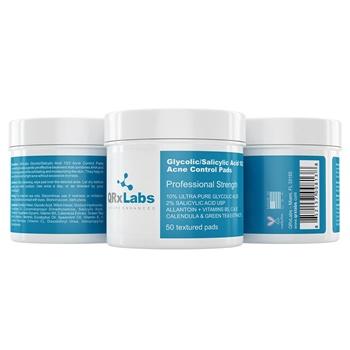 QRxLabs Glycolic/Salicylic Acid 10/2 Acne Control Pads Skincare