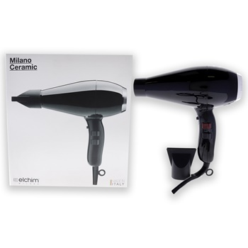 Milano Ceramic Hair Dryer - Black/Silver