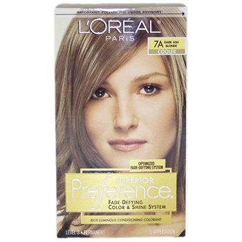 L\'Oreal Paris Superior Preference Fade-Defying Color # 7A Dark Ash ...