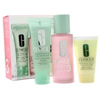 Clinique 3-Step Skincare System (Skin Type 3): Liquid Facial Soap Oily Skin Formula + Clarifying Lotion 3 +