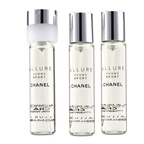Chanel Allure Homme Sport EDT Travel Spray Refills (3 Refills)