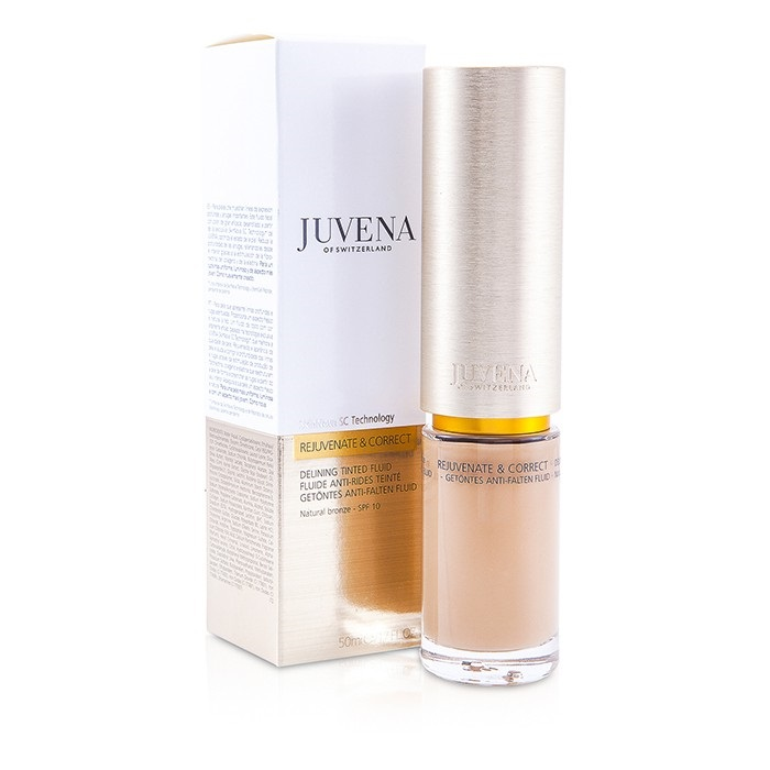 Juvena - Rejuvenate & Correct Delining Tinted Fluid - Natural Bronze SPF10 -50ml/1.7oz Vitamin C Cream - Organic with European Green Clay, Spanish Rosemary and Vitamin C Ester - Paraben Free!