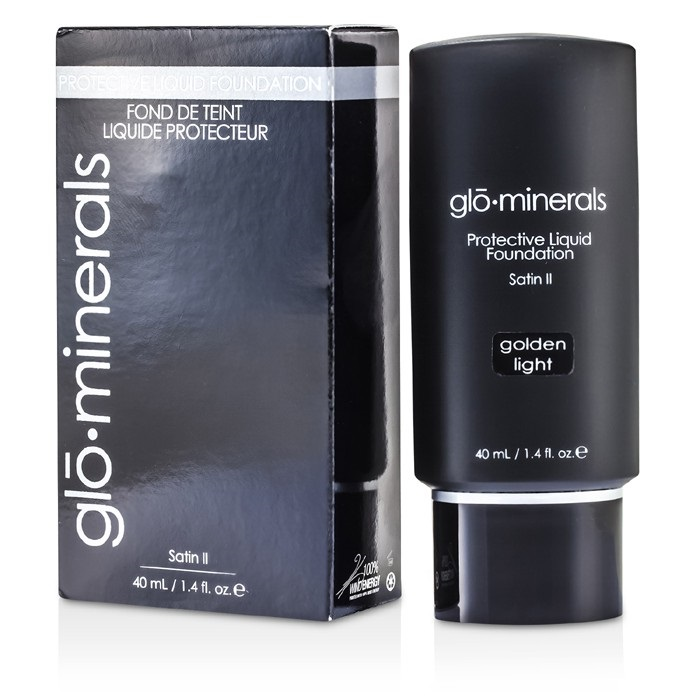 GloMinerals GloProtective Oil Free Liquid Foundation Satin Finish - Golden Light
