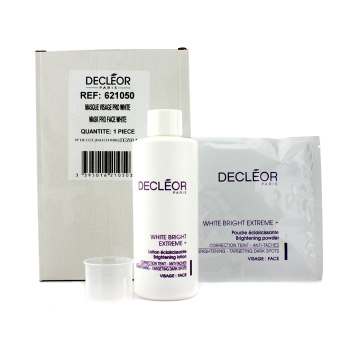 Decleor White Bright Extreme Set (salon Size): Brightening Lotion + 5x Brightening Powder  6pcs Derma E Vitamin A With E Wrinkle Treatment Oil - 2 Fl Oz