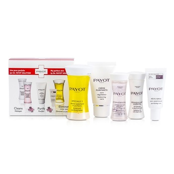 Payot Travel Set: Speciale 5 + Creme Purifiante + Demaquillant Essentiel + Lotion Essentielle + Pate Grise
