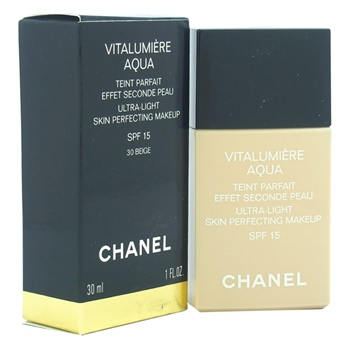 Chanel Vitalumiere Aqua Ultra Light Skin Perfecting Makeup SPF 15 -B30 Beige Sable Makeup