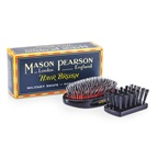 Mason Pearson Boar Bristle & Nylon - Medium Junior Military Nylon & Bristle Hair Brush (Dark Ruby)