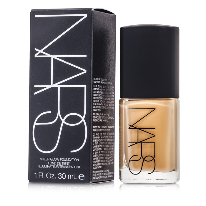NARS Sheer Glow Foundation - Punjab (Medium 1 - Medium with Golden, Peachy Undertone)
