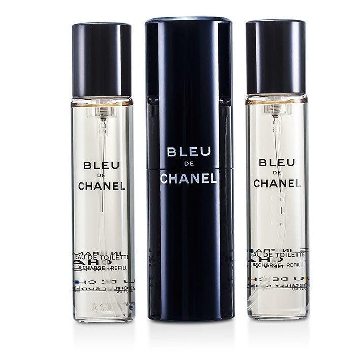 d2e19479 Chanel Bleu De Chanel EDT Travel Spray & Two Refills Men's Fragrance
