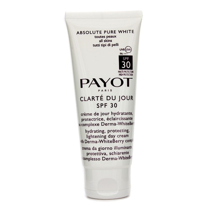 Payot Absolute Pure White Clarte Du Jour SPF 30 Hydrating Protecting Lightening Day Cream (Salon Size)