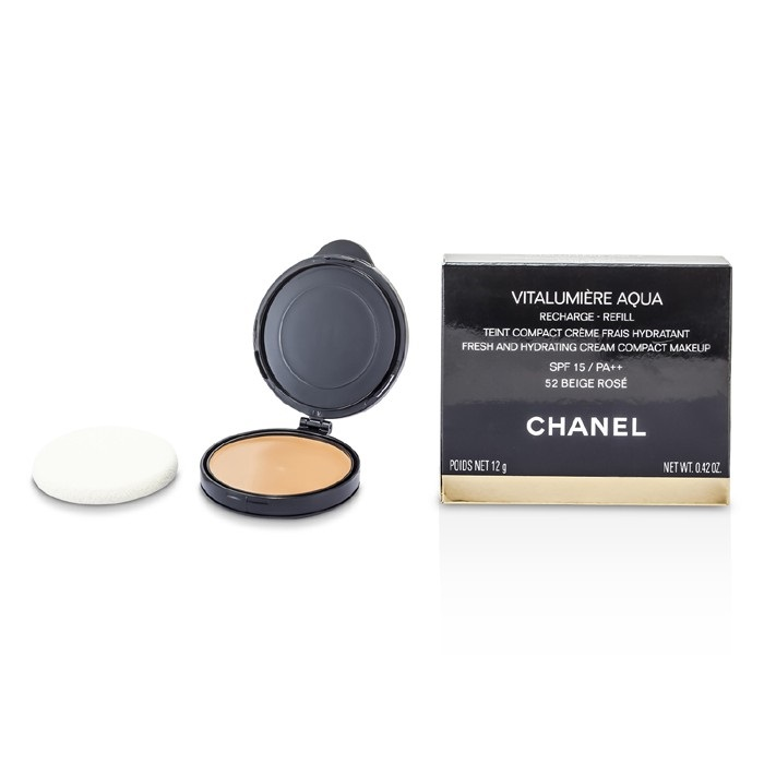chanel vitalumiere aqua. chanel vitalumiere aqua fresh and hydrating cream compact makeup spf 15 refill - # 52 beige. loading zoom 4