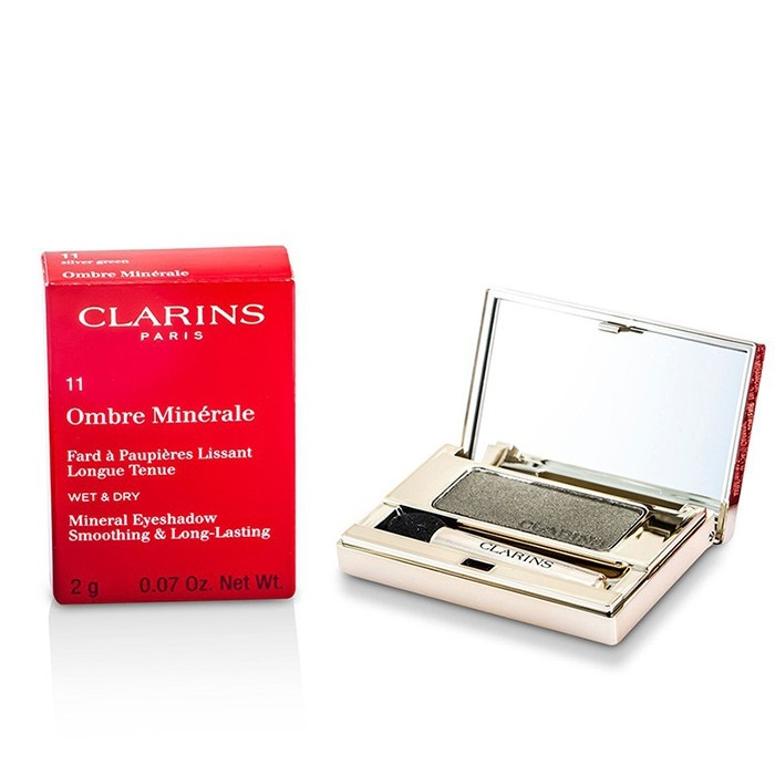 Clarins Ombre Minerale Smoothing & Long Lasting Mineral Eyeshadow - # 11 Silver Green