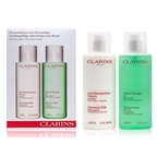 Clarins Cleansing Coffret: Cleansing Milk 400ml + Toning Lotion 400ml (Combination or Oily Skin)