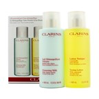 Clarins Cleansing Coffret: Cleansing Milk 400ml + Toning Lotion 400ml (Normal or Dry Skin)