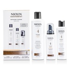 Nioxin System 4 System Kit for Fine Hair, Chemically Treated, Noticeably Thinning Hair: Cleanser 300ml + Scalp Therapy 150ml + Scalp Treatment 100ml