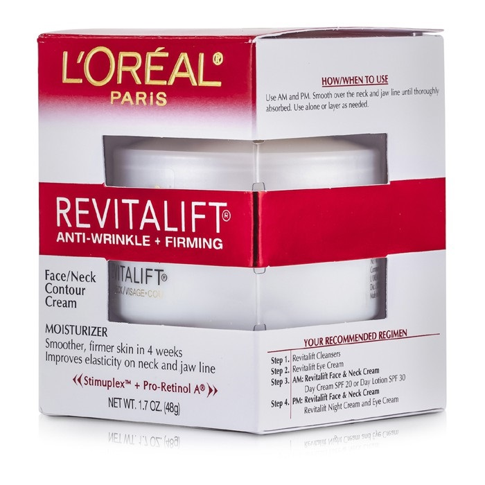 L'Oreal RevitaLift Anti-Wrinkle + Firming  Face/ Neck Contour Cream