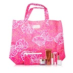 Estee Lauder Travel Set: DayWear Cream SPF15 + Bronze Goddess + Mascara + Lipstick #88 + High Gloss #07 + Pouch + Bag