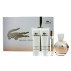 Lacoste Eau De Lacoste Coffret: Edp Spray 90ml/3oz + Edp Roll On 6ml/0.2oz + Body Lotion 50ml/1.6oz + S