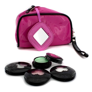 Anna Sui Eye Color Set: 3x Eye Color Accent + 1x Eye Gloss + Pink Cosmetic Bag
