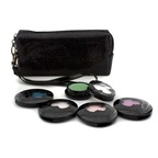 Anna Sui Eye Color Set: 4x Eye Color Accent + 1x Eye Gloss + Black Cosmetic Bag