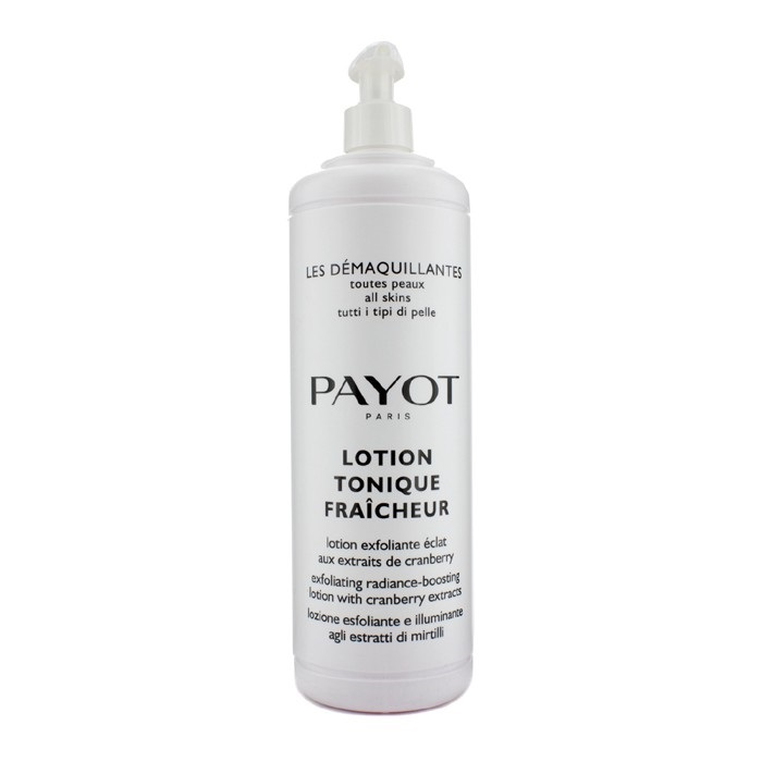 Payot Les Demaquillantes Lotion Tonique Fraicheur Exfoliating Radiance-Boosting Lotion - For All Skin Type (Salon Size)