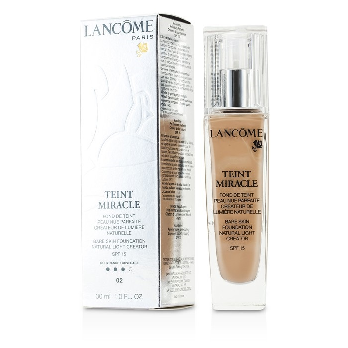Lancome Teint Miracle Bare Skin Foundation Natural Light Creator SPF 15 - # 02 Lys Rose