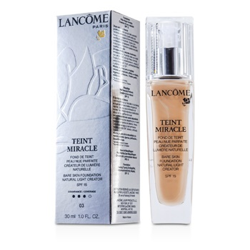 Lancome Teint Miracle Bare Skin Foundation Natural Light Creator SPF 15 - # 03 Beige Diaphane