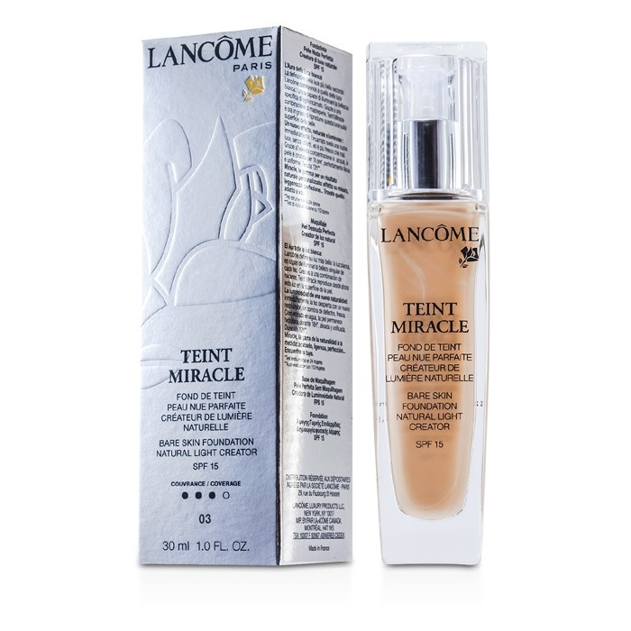 d6daf4380c5 Lancome Teint Miracle Bare Skin Foundation Natural Light Creator SPF 15 - #  03 Beige Diaphane. Loading zoom